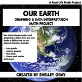 Our Earth: Real Life Math Project | Earth Day Graphing & D