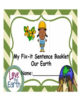 Our Earth Fix-Sentences Booklet