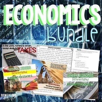 Economics Bundle {Differentiated Reading Passages & Questions}
