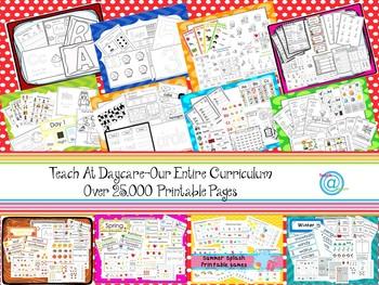 Preschool-Kindergarten. 250 Printed Alphabet and Numbers Homeschool Worksheets