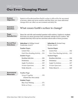 Our Ever-Changing Planet (Reading Paired Text)