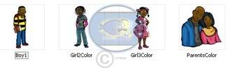 """Our Family"" 4 pc. COLOR Clip-Art (Sampler) Set"