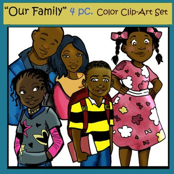 """Our Family"" 4 pc. COLOR Clip-Art (Sampler) Set"
