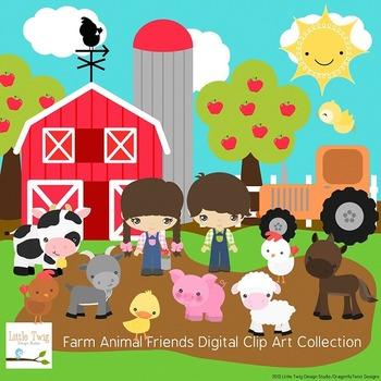 Our Farm Animals Digital clip art Clipart