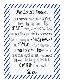 Our Father Prayer Activity Packet