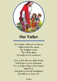 Our Father Prayer Card/ Poster - The Lord's Prayer
