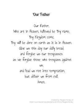 Our Father Prayer Close Read