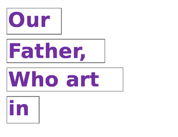 graphic about Printable Our Father Prayer known as Our Dad Prayer Puzzle