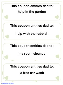 Our Father's Day Coupons