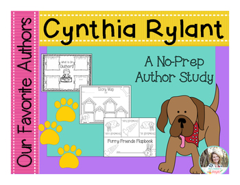 Our Favorite Authors:Meet Cynthia Rylant No Prep Author Study