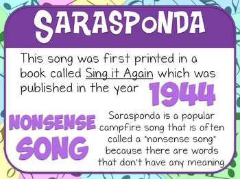 Favorite Folk Song – Sarasponda Teacher Kit