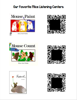 Our Favorite Mice QR Code Listening Centers