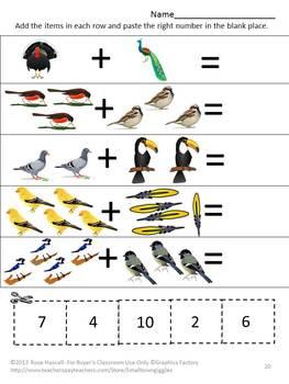 Birds Preschool, Birds Preschool Theme Activities, Cut and Paste Activities