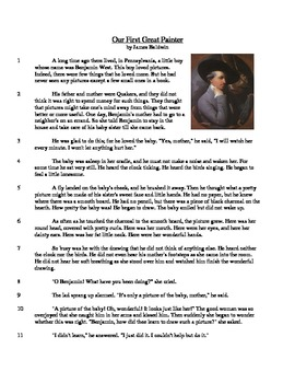 Our First Great Painter - Informational Text Test Prep