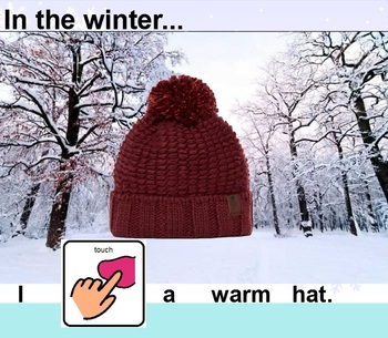 Our Five Senses During the Winter (Interactive SmartBoard Book with Sounds!)