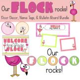 Our Flock Rocks! | Editable Door Decor, Bulletin Board & N