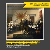Our Founding Fathers: Patriots or Traitors lesson on Multiple Perspectives