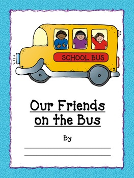 "Name Activities: ""Our Friends on the Bus"" Class Name Book"