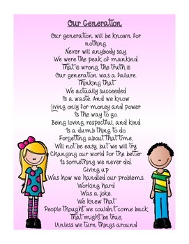 Our Generation Poem