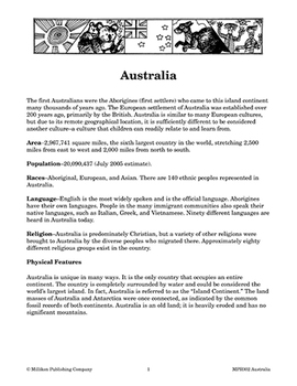 Our Global Village - Australia