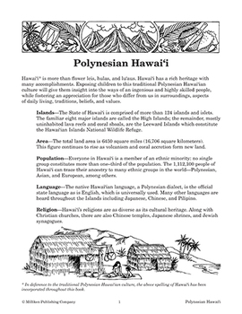 Our Global Village - Polynesian Hawaii