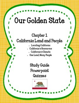 Our Golden State: Chapter 1 - California Land and People MEGA PACK