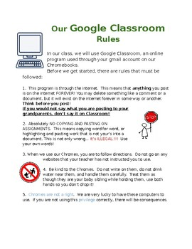 Our Google Classroom Rules