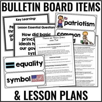 Patriotic Symbols and Principles of Government (Complete Lesson- No Prep!)