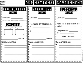Our Government Printable (TEKS Aligned)