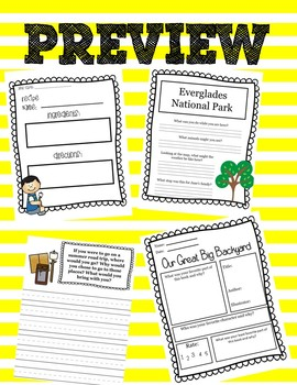 Our Great Big Backyard Literacy Companion
