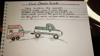 Our Green Truck Picture and Description