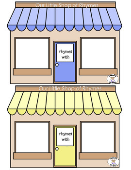 Phonemic Awareness-Rhyming - Our Shop of Rhymes