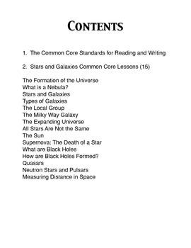 Our Infinite Universe Common Core workbook