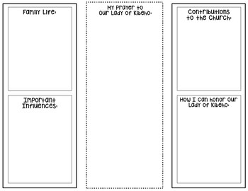 Our Lady of Kibeho Research Brochure Project with Interactive Notebook Pockets