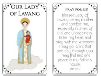 Our Lady of La Vang Marian Apparitions Mary Activities Worksheets Crafts