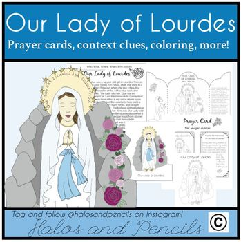 Our Lady of Lourdes Marian Apparitions Mary Activities Worksheets Crafts