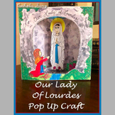 Our Lady of Lourdes Printable Diorama Craft