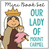 Our Lady of Mount Carmel Biography Mini Book in 3 Formats, Catholic Saints