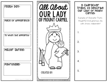Our Lady of Mount Carmel Research Project w/ Interactive Notebook Pockets