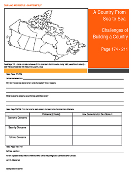 Canada - Our Land and People Activity Booklet -Chpt. 10,11 (Sea to Sea)