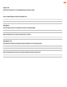 Canada - Our Land and People Activity Booklet - Chpt. 12 (Settling the West)