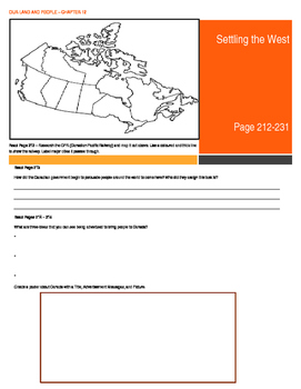 Canada - Our Land and People Activity Booklet - Chpt. 12 (