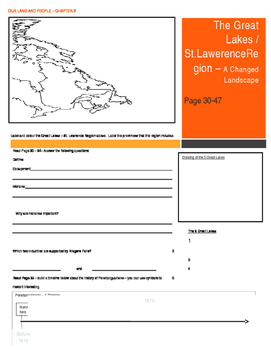Canada - Our Land and People Activity Booklet - Chpt. 2. (Great Lakes Region)