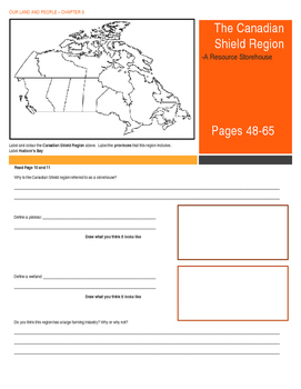 Canada -  Our Land and People Activity Booklet - Chpt. 3 (The Canadian Shield)