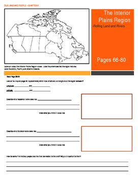 Our Land and People Activity Booklet - Chpt. 4 (The Interi