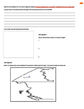 Canada - Our Land and People Activity Booklet - Chpt. 5 (The Cordillera Region)