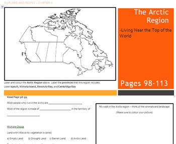 Canada - Our Land and People Activity Booklet - Chpt. 6 (The Arctic Region)
