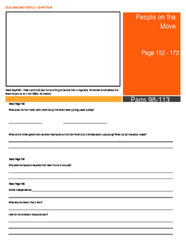 Our Land and People Activity Booklet - Chpt. 9 (People on