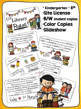 Our Library Rules! Shared Story & Slideshow {SCHOOL SITE LICENSE}