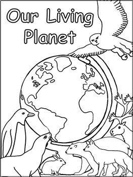 Living and Nonliving Things - Our Living Planet Science Title Page.